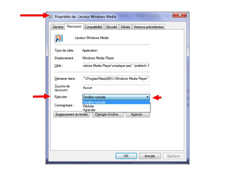 Windows 7 wmp fenetre r duite a l 39 ouverture windows for Fenetre windows 7 outils
