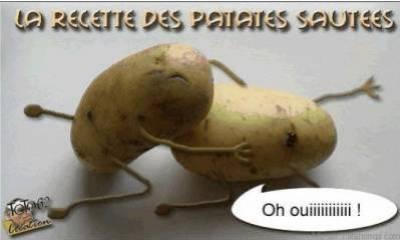 La femme et la patate - Recette de cuisine drole ...