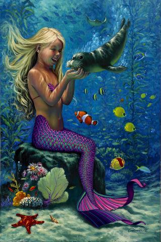 belle-sirene-enfant-phoque-et-fonds-marins-flora