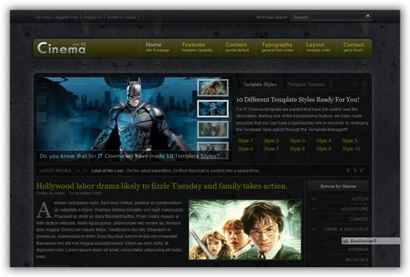 IT Cinema June 09 Joomla Template